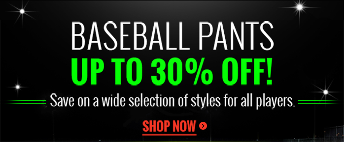 discounted baseball pants